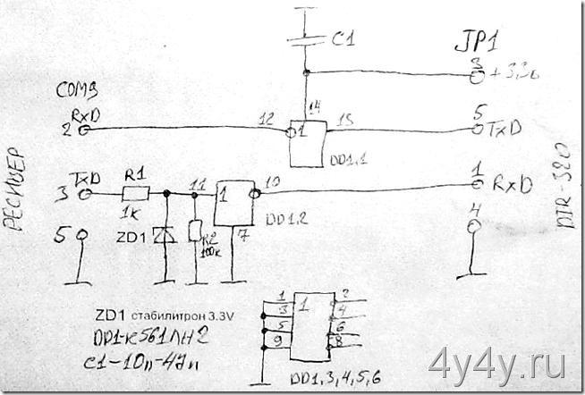 COM переходник на к561ЛН2
